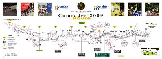 comrades marathon route map