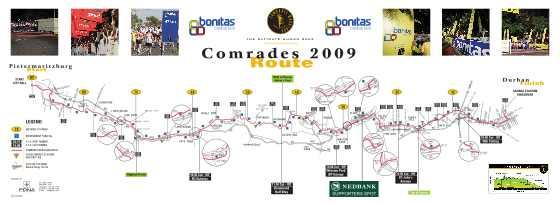 comrades marathon route map