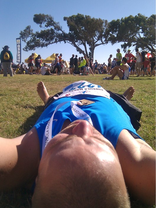 Randolf after the Peninsula Marathon