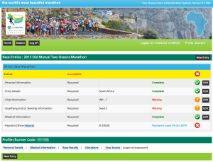 Two oceans marathon entry registration